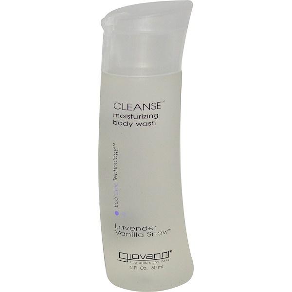 Giovanni, Cleanse Body Wash, Lavender Vanilla Snow, 2 fl oz (60 ml) (Discontinued Item)