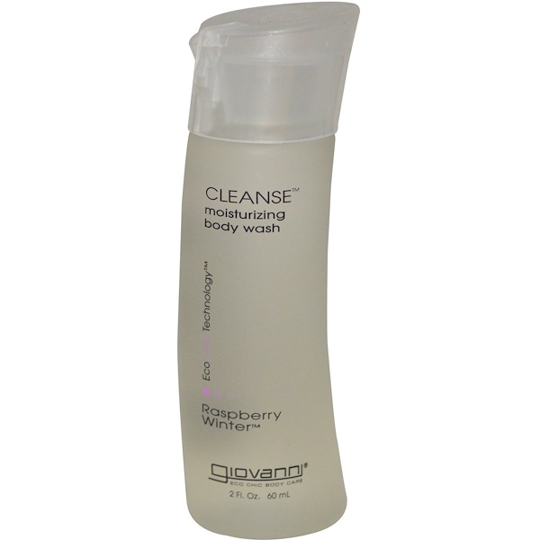 Giovanni, Cleanse Moisturizing Body Wash, Raspberry Winter, 2 fl oz (60 ml) (Discontinued Item)