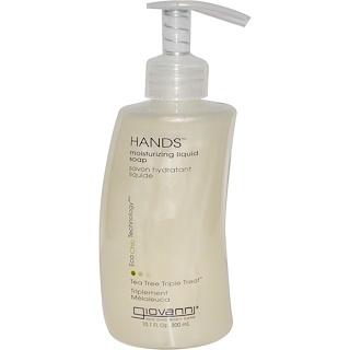 Giovanni, Hands, Moisturizing Liquid Soap, Tea Tree Triple Treat, 10.1 fl oz (300 ml)