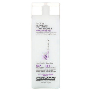 Giovanni, Root 66, Max Volume Conditioner, For Limp, Lifeless Hair, 8.5 fl oz (250 ml)