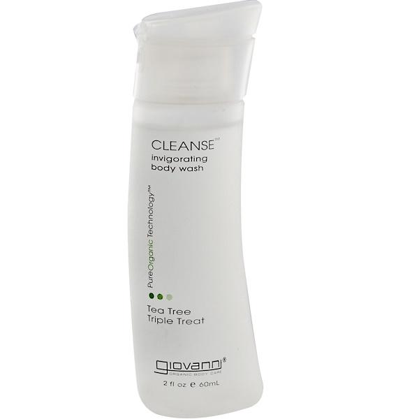 Giovanni, Cleanse Invigorating Body Wash, Tea Tree Triple Treat, 2 fl oz (60 ml) (Discontinued Item)