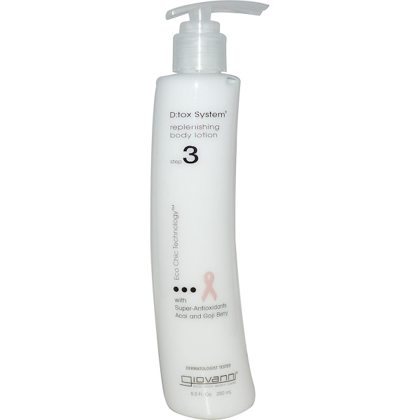 Giovanni, D:tox System, Replenishing Body Lotion, Step 3, 8.5 fl oz (250 ml) (Discontinued Item)