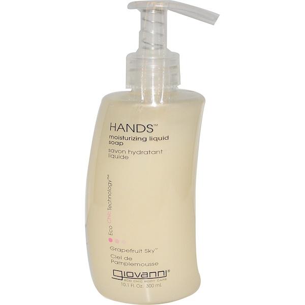 Giovanni, Увлажняющее жидкое мыло для рук, грейпфрутовое небо, 10,1 жидк. унц. (300 мл) (Discontinued Item)