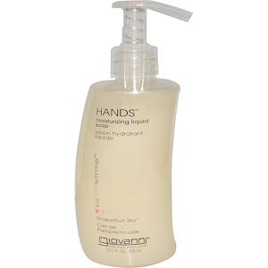 Джиованни, Hands, Moisturizing Liquid Soap, Grapefruit Sky, 10.1 fl oz (300 ml) отзывы покупателей