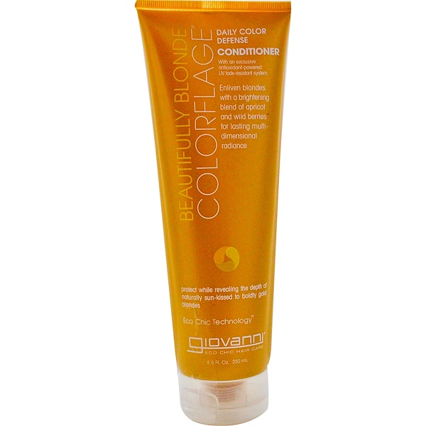 Giovanni, Colorflage, Daily Color Defense Conditioner, Beautifully Blonde, 8.5 fl oz (250 ml) (Discontinued Item)