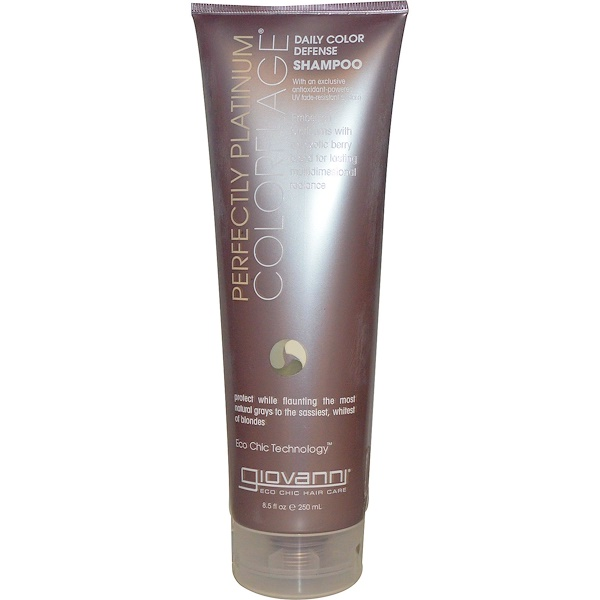 Giovanni, ColorFlage, Daily Color Defense Shampoo, Perfectly Platinum, 8.5 fl oz (250 ml) (Discontinued Item)