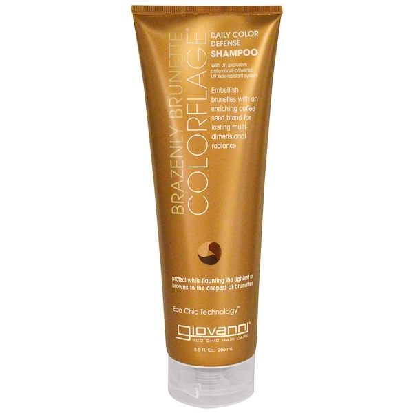 Giovanni, Colorflage, Daily Color Defense Shampoo, Brazenly Brunette, 8.5 fl oz (250 ml) (Discontinued Item)