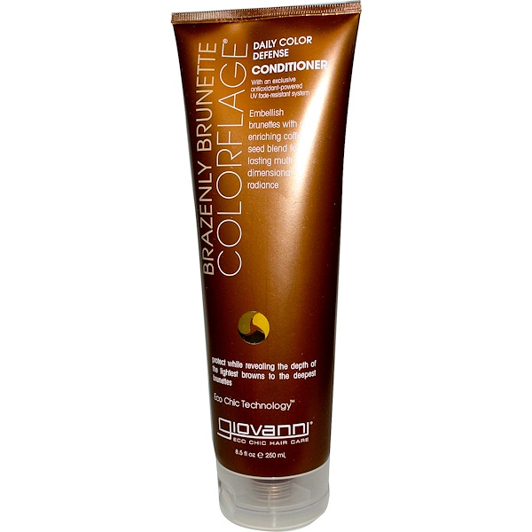 Giovanni, ColorFlage, Daily Color Defense Conditioner, Brazenly Brunette, 8.5 fl oz (250 ml) (Discontinued Item)