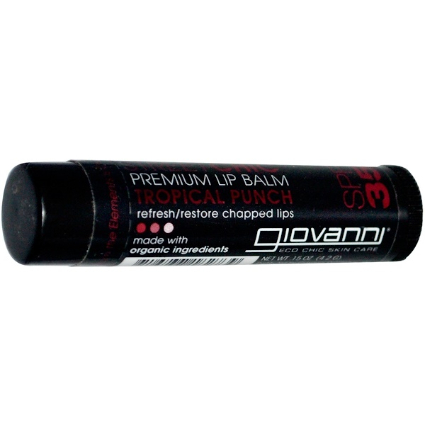 Giovanni, Street Chic, Premium Lip Balm, SPF 35, Tropical Punch, .15 oz (4.2 g) (Discontinued Item)
