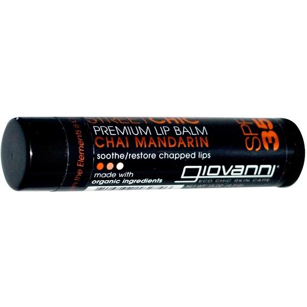 Giovanni, Street Chic, Premium Lip Balm, SPF 35, Chai Mandarin, .15 oz (4.2 g) (Discontinued Item)