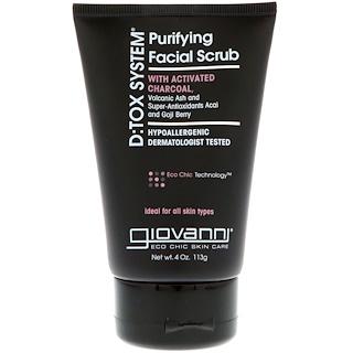 Giovanni, D:Tox System, Purifying Facial Scrub, 4 oz (113 g)