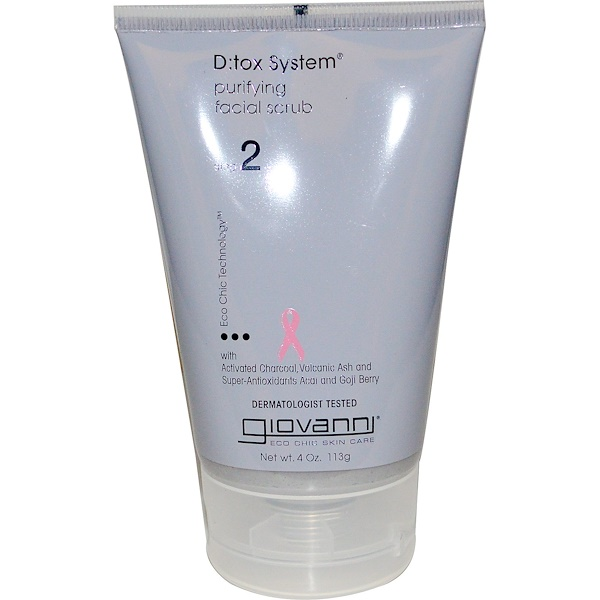 Giovanni, D:tox System, Purifying Facial Scrub, Step 2, 4 oz (113 g)