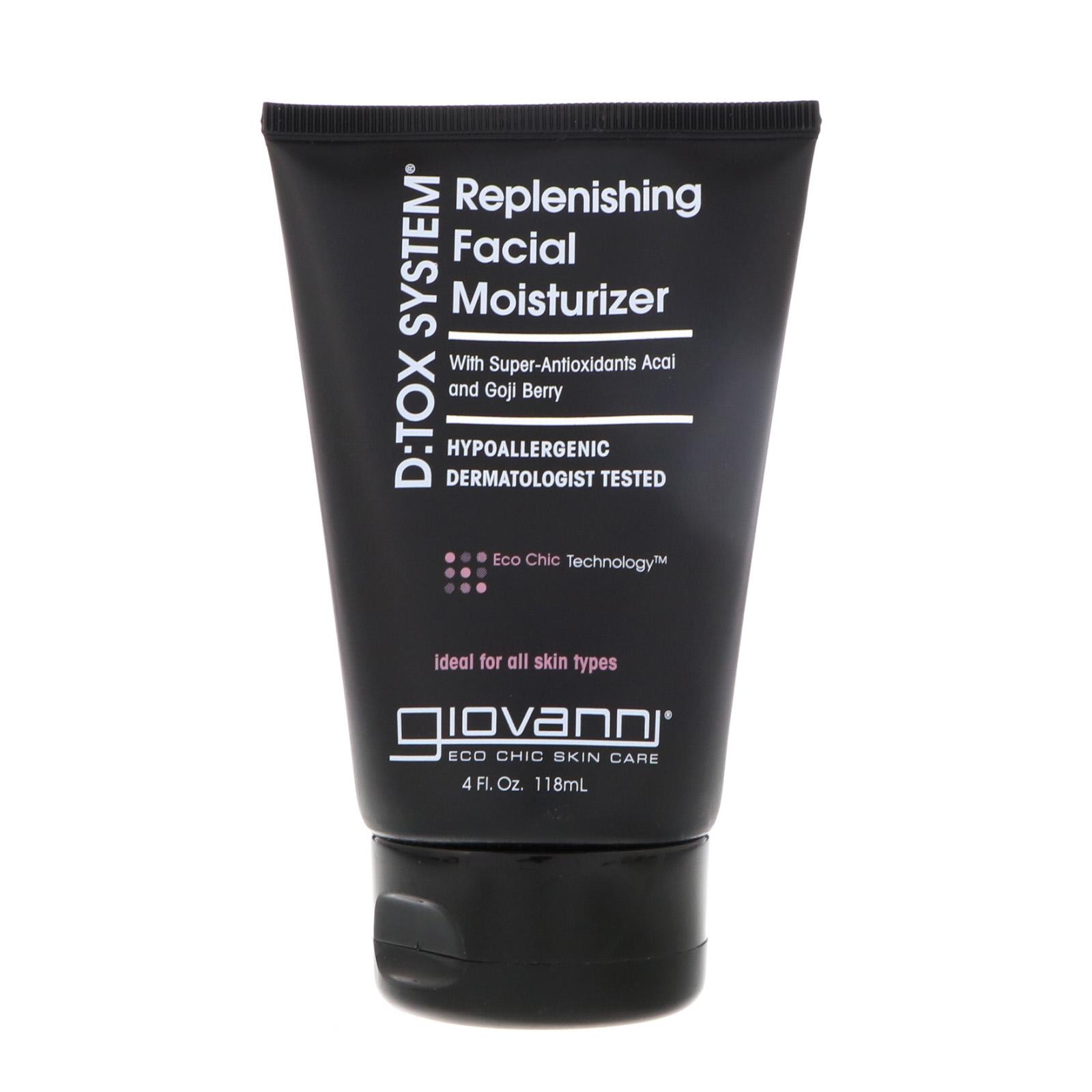 Giovanni D:tox System Replenishing Facial Moisturizer, 4 Fluid Ounce Earthly Body Hemp Lip Balm Pot - Guavalava - 0.45 oz