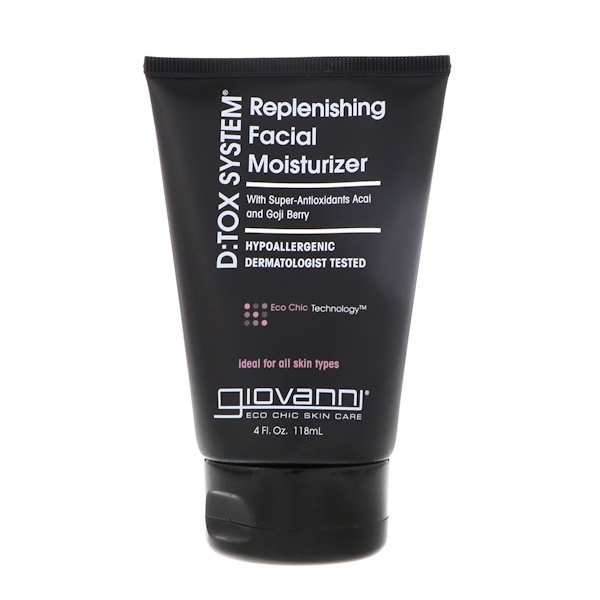 Giovanni, D:Tox System, Replenishing Facial Moisturizer, 4 fl oz (118 ml)