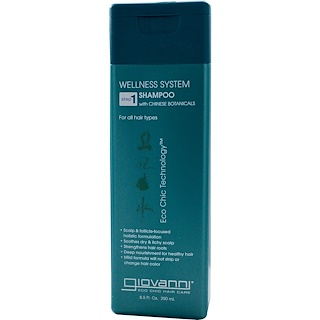 Giovanni, Wellness System Shampoo with Chinese Botanicals, Step 1, 8.5 fl oz (250 ml)