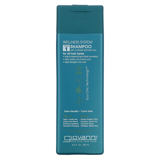 Giovanni, Wellness System Shampoo with Chinese Botanicals, For All Hair Types, Step 1, 8.5 fl oz (250 ml)