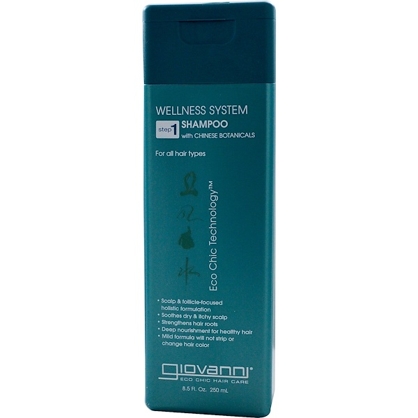 Wellness System Shampoo with Chinese Botanicals, Step 1, 8.5 fl oz (250 ml)