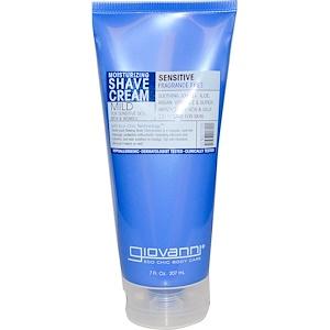 Giovanni, Увлажняющий крем для бритья, для чувствительной кожи, без отдушек, 7 жидких унций (207 мл) инструкция, применение, состав, противопоказания