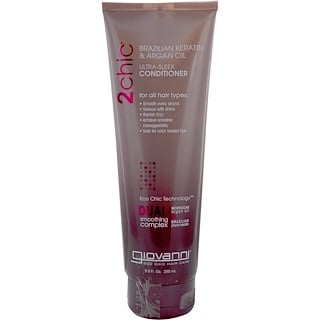 Giovanni, 2chic, Ultra-Sleek Conditioner, Brazilian Keratin & Argan Oil, 8.5 fl oz (250 ml)