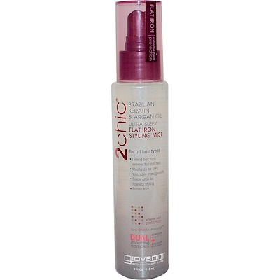 2chic, термозащита для волос, бразильский кератин и аргановое масло, 118 мл (4 жидких унции) 2chic термозащита для волос бразильский кератин и аргановое масло 118 мл 4 жидких унции