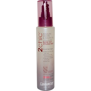 Giovanni, 2chic, Blow Out Styling Mist, Brazilian Keratin & Argan Oil, 4 fl oz (118 ml)