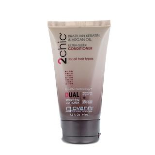Giovanni, 2chic, Ultra-Sleek Conditioner, for All Hair Types, Brazilian Keratin & Argan Oil, 1.5 fl oz (44 ml)