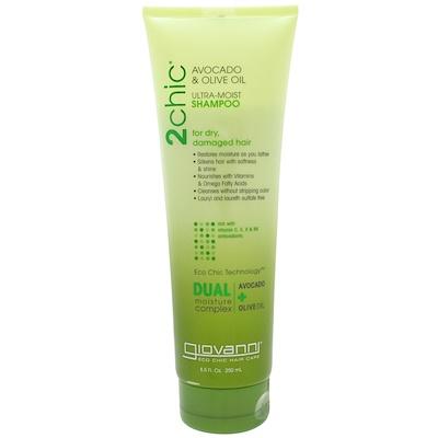 Купить Ультра-увлажняющий шампунь для сухих, поврежденных волос, авокадо и оливковое масло, 250 мл (8, 5 жидких унций)