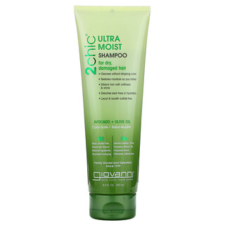 Giovanni, 2chic, Ultra-Moist Shampoo, For Dry, Damaged Hair, Avocado + Olive Oil, 8.5 fl oz (250 ml)