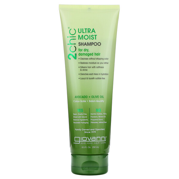 2chic, Ultra-Moist Shampoo, for Dry, Damaged Hair, Avocado & Olive Oil, 8.5 fl oz (250 ml)