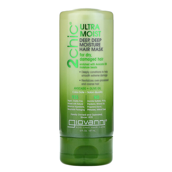2chic, Ultra-Moist, Deep Deep Moisture Hair Mask, Avocado & Olive Oil, 5 fl oz (147 ml)