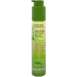 Giovanni, 2chic, Ultra-Moist Super Potion Anti-Frizz & Binding Serum Oil, Avocado & Olive Oil, 1.8 fl oz (53 ml)
