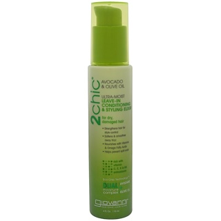 Giovanni, 2chic, Ultra-Moist Leave-In Conditioning & Styling Elixir, Avocado & Olive Oil, 4 fl oz (118 ml)