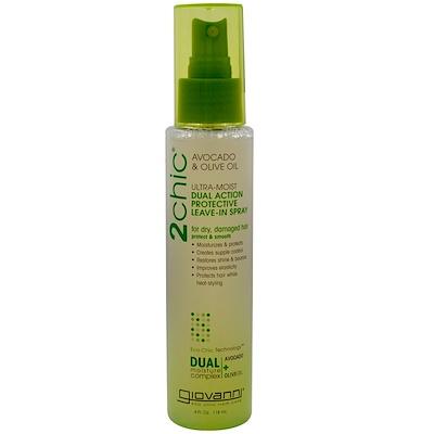 Купить 2chic, ультра-увлажняющий защитный спрей двойного действия, авокадо и оливковое масло, 118 мл (4 жидких унции)