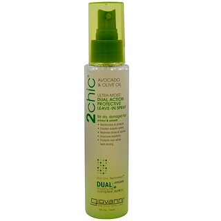 Giovanni, 2chic, Ultra-Moist Dual Action Protective Leave-In Spray, Avocado & Olive Oil, 4 fl oz (118 ml)