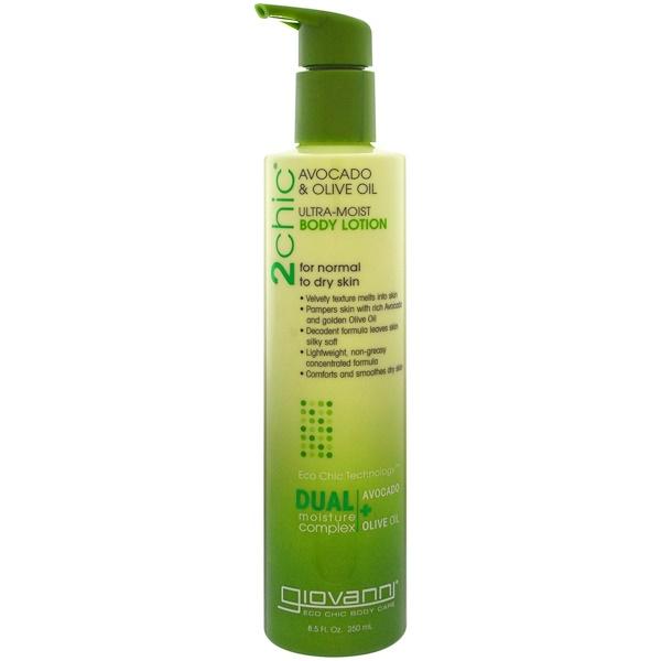 Giovanni, 2chic,超保濕潤膚乳,鱷梨&橄欖油,8.5 液體盎司(250 毫升) (Discontinued Item)