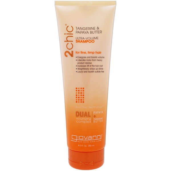2chic, Ultra-Volume Shampoo, for Fine Limp Hair, Tangerine & Papaya Butter, 8.5 fl oz (250 ml)
