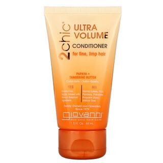 Giovanni, 2chic, Ultra-Volume Conditioner,  For Fine, Limp Hair, Papaya + Tangerine Butter, 1.5 fl oz (44 ml)