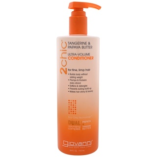 Giovanni, Ultra-Volume Conditioner, for Fine Limp Hair, Tangerine & Papaya Butter, 24 fl oz (710 ml)
