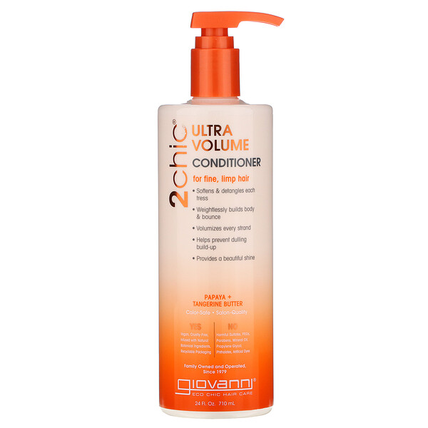 Ultra-Volume Conditioner, for Fine Limp Hair, Tangerine & Papaya Butter, 24 fl oz (710 ml)