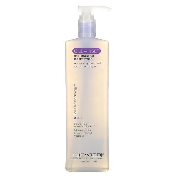 Cleanse, Moisturizing Body Wash, Lavender Vanilla Snow, 24 fl oz (710 ml)