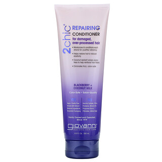 Giovanni, 2chic, Repairing Conditioner, For Damaged, Over-Processed Hair, Blackberry + Coconut Milk, 8.5 fl oz (250 ml)