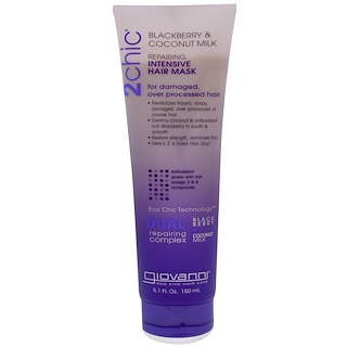 Giovanni, 2chic, Repairing, Intensive Hair Mask, Blackberry & Coconut Milk, 5.1 fl oz (150 ml)