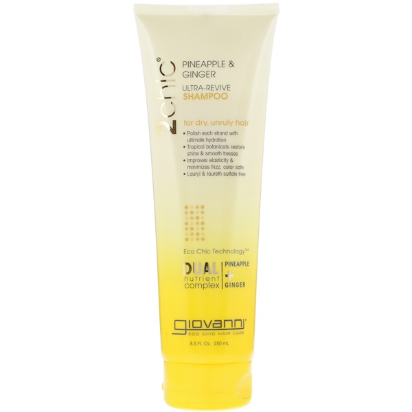 Giovanni, 2chic, Ultra-Revive Shampoo, for Dry, Unruly Hair, Pineapple & Ginger, 8、5 fl oz (250 ml)
