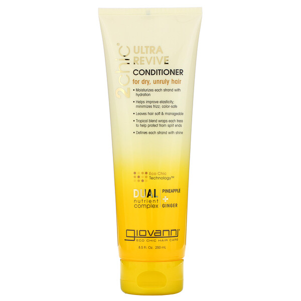 2chic, Ultra-Revive Conditioner, for Dry, Unruly Hair, Pineapple & Ginger, 8.5 fl oz (250 ml)
