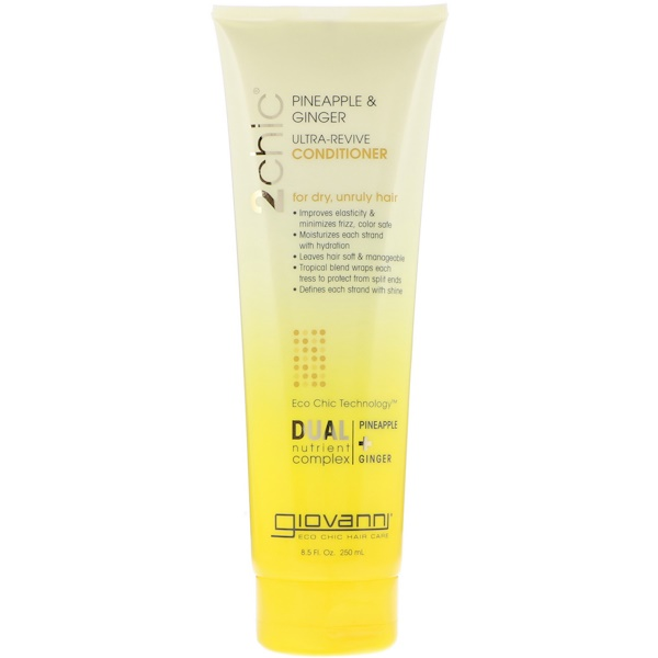 Giovanni, 2chic, Ultra-Revive Conditioner, for Dry, Unruly Hair, Pineapple & Ginger, 8.5 fl oz (250 ml)