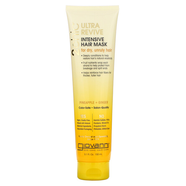Giovanni, 2chic, Ultra-Revive, Intensive Hair Mask, Pineapple & Ginger, 5.1 fl oz (150 ml)