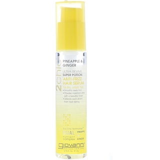 Giovanni, 2chic, Ultra-Revive Super Potion Anti-Frizz Hair Serum, Pineapple & Ginger, 2.75 fl oz (81 ml)