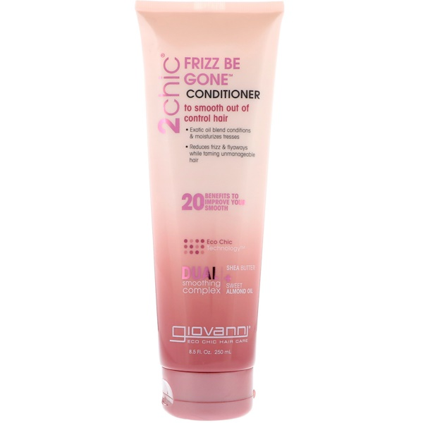 Giovanni, 2chic, Frizz Be Gone Conditioner, Shea Butter + Sweet Almond Oil, 8.5 fl oz (250 ml)