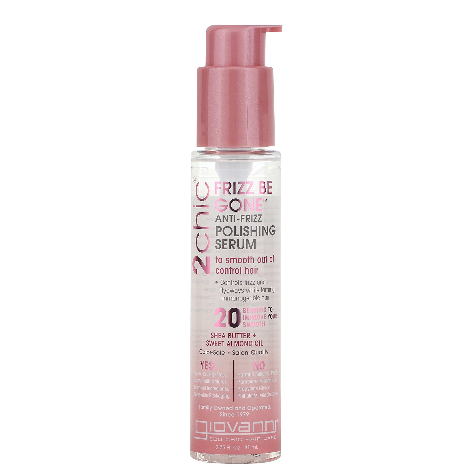 Image result for GIOVANNI COSMETICS: 2Chic Frizz Be Gone Polishing Serum