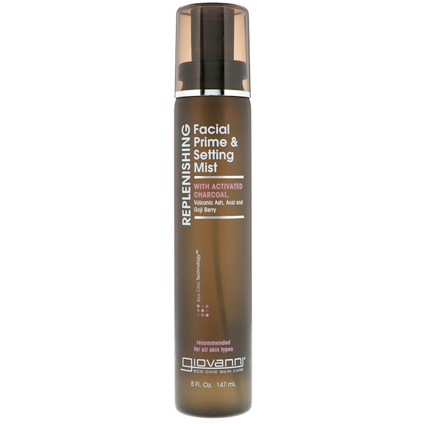 Giovanni, Replenishing, Facial Prime & Setting Mist, 5 fl oz (147 ml) (Discontinued Item)